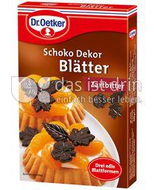 Produktabbildung: Dr. Oetker Schoko Dekor Blätter Zartbitter 60 g