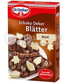 Produktabbildung: Dr. Oetker Schoko Dekor Blätter Weiss 60 g