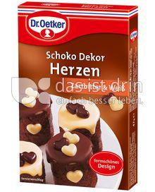 Produktabbildung: Dr. Oetker Schoko Dekor Herzen Zartbitter & Weiss 47 g