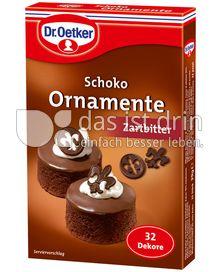 Produktabbildung: Dr. Oetker Schoko Ornamente Zartbitter 39 g