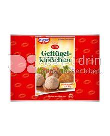 Produktabbildung: Dr. Oetker Geflügelklößchen 50 g