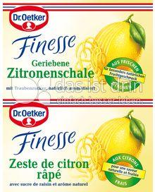 Produktabbildung: Dr. Oetker Finesse Geriebene Zitronenschale 12 ml