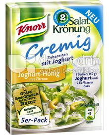 Produktabbildung: Knorr Salatkrönung Cremig Joghurt-Honig mit Zitrone 5 St.