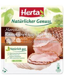 Produktabbildung: Herta Natürlicher Genuss Herzhafter Rauchschinken 100 g