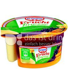 Produktabbildung: Dr. Oetker Frucht finesse Johannisbeere mit Apfel auf Pfirsich 160 g