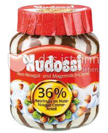 Produktabbildung: Nudossi Nuss-Nougat- und Magermilch-Creme 350 g