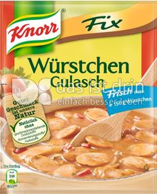 Produktabbildung: Knorr Fix Würstchen Gulasch 32 g