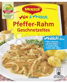 Produktabbildung: Maggi fix & frisch Pfeffer-Rahm Geschnetzeltes 33 g