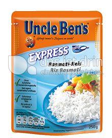 uncle ben 39 s express basmati reis 153 0 kalorien kcal und inhaltsstoffe das ist drin. Black Bedroom Furniture Sets. Home Design Ideas