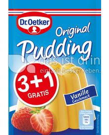 Produktabbildung: Dr. Oetker Original Pudding Vanille-Geschmack 3+1 148 g