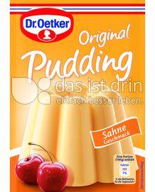 Produktabbildung: Dr. Oetker Original Pudding Sahne-Geschmack 111 g