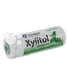 Produktabbildung: miradent Xylitol Chewing Gum Spearmint 30 g