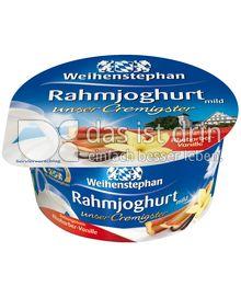 Produktabbildung: Weihenstephan Rahmjoghurt Rhabarber-Vanille 150 g