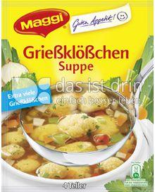 Produktabbildung: Maggi Guten Appetit Grießklößchen Suppe 57 g