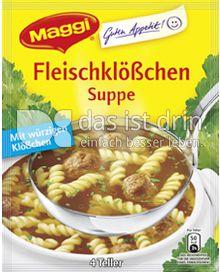 Produktabbildung: Maggi Guten Appetit Fleischklößchen Suppe 61 g