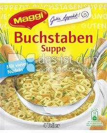 maggi guten appetit buchstaben suppe 336 0 kalorien kcal und inhaltsstoffe das ist drin. Black Bedroom Furniture Sets. Home Design Ideas