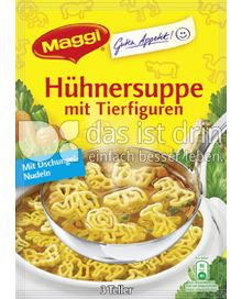 Produktabbildung: Maggi Guten Appetit Hühnersuppe mit Tierfiguren 78 g