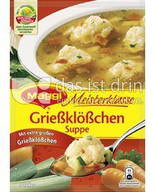 Produktabbildung: Maggi Meisterklasse Grießklößchen Suppe 63 g