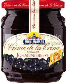 Produktabbildung: Mühlhäuser Crème de la Crème schwarze Johannisbeere 340 g