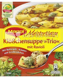 Produktabbildung: Maggi Meisterklasse Klößchensuppe »Trio« mit Ravioli 54 g