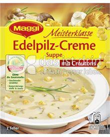 Produktabbildung: Maggi Meisterklasse Edelpilz-Creme Suppe mit Croutons 60 g