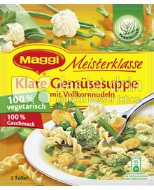 Produktabbildung: Maggi Meisterklasse Klare Gemüsesuppe mit Vollkornnudeln 40 g