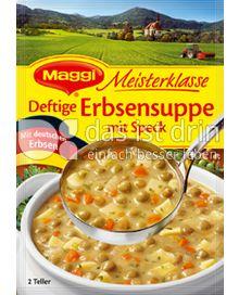 Produktabbildung: Maggi Meisterklasse Deftige Erbsensuppe mit Speck 95 g