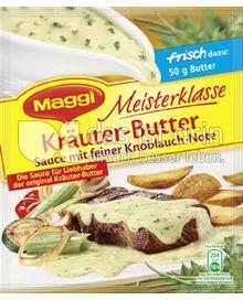 Produktabbildung: Maggi Meisterklasse Kräuter-Butter Sauce mit feiner Knoblauch-Note 30 g