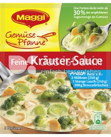 Produktabbildung: Maggi Gemüse Pfanne Feine Kräuter-Sauce 53 g