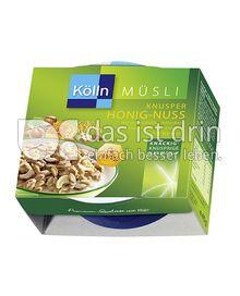 Produktabbildung: Kölln Müsli Knusper Honig-Nuss 40 g