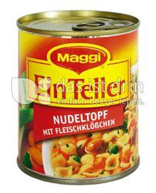 Produktabbildung: Maggi Ein Teller Nudeltopf mit Fleischklößchen 325 g