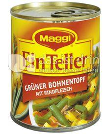 Produktabbildung: Maggi Ein Teller Grüner Bohnentopf mit Rindfleisch 325 g