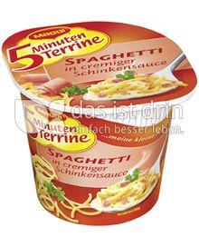 Produktabbildung: Maggi 5 Minuten Terrine Spaghetti in cremiger Schinkensauce 64 g