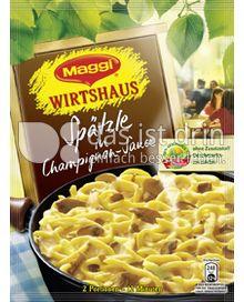 Produktabbildung: Maggi Wirtshaus Spätzle in Champignon-Sauce 127 g