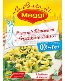 Produktabbildung: Maggi La Pasta - Pasta mit Blattspinat in Frischkäse-Sauce 142 g