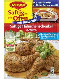 Produktabbildung: Maggi Saftig aus dem Ofen - Saftige Hähnchenschenkel »Kräuter« 34 g