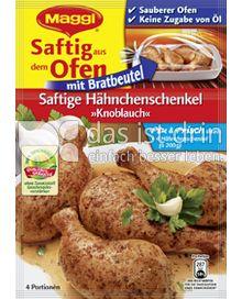 Produktabbildung: Maggi Saftig aus dem Ofen - Saftige Hähnchenschenkel »Knoblauch« 36 g