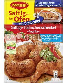 Produktabbildung: Maggi Saftig aus dem Ofen - Saftige Hähnchenschenkel »Paprika« 34 g