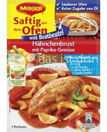 Produktabbildung: Maggi Saftig aus dem Ofen - Hähnchenbrust mit Paprika-Gemüse 45 g