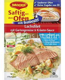 Produktabbildung: Maggi Saftig aus dem Ofen - Lachsfilet mit Gartengemüse & Kräuter-Sauce 36 g