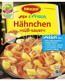 Produktabbildung: Maggi fix & frisch Hähnchen »süß-sauer« 65 g