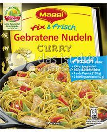Produktabbildung: Maggi fix & frisch Gebratene Nudeln Curry 29 g