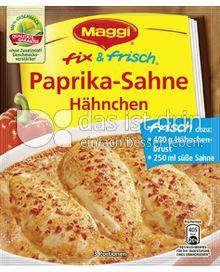 Produktabbildung: Maggi fix & frisch Paprika-Sahne Hähnchen 33 g