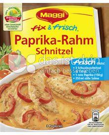 Produktabbildung: Maggi fix & frisch Paprika-Rahm Schnitzel 35 g