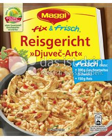 maggi fix frisch reisgericht djuve art 320 0 kalorien kcal und inhaltsstoffe das ist drin. Black Bedroom Furniture Sets. Home Design Ideas