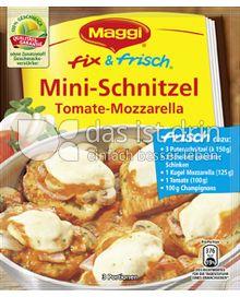 Produktabbildung: Maggi fix & frisch Mini-Schnitzel Tomate-Mozzarella 37 g