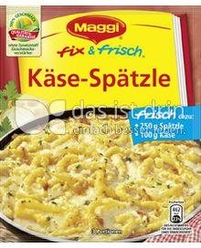 Produktabbildung: Maggi fix & frisch Käse-Spätzle 35 g