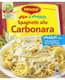 Produktabbildung: Maggi fix & frisch Spaghetti alla Carbonara 40 g
