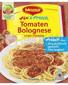 Produktabbildung: Maggi fix & frisch Tomaten Bolognese 52 g
