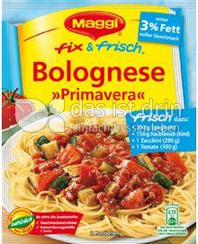 Produktabbildung: Maggi fix & frisch Bolognese »Primavera« 40 g